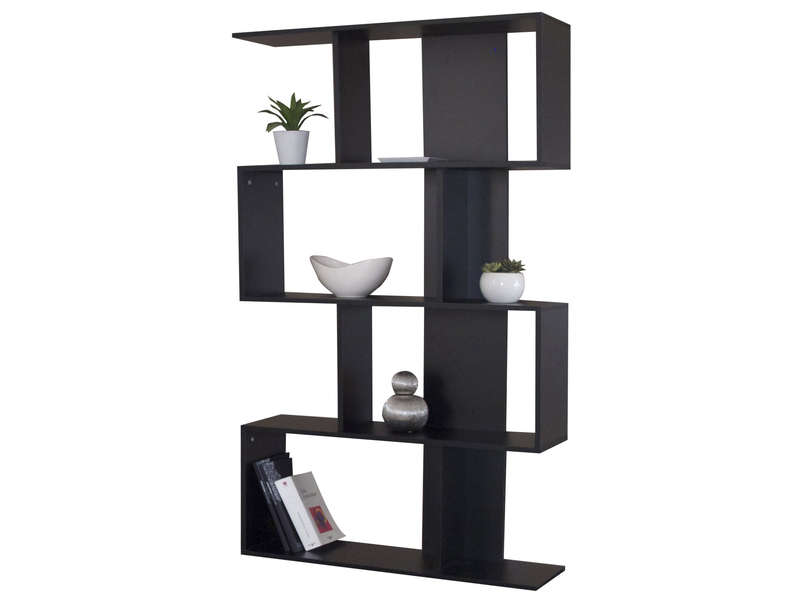 biblioth que dixy coloris noir vente de biblioth que conforama. Black Bedroom Furniture Sets. Home Design Ideas