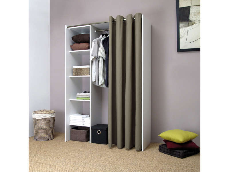 dressing extensible 1 colonne diego vente de dressing conforama. Black Bedroom Furniture Sets. Home Design Ideas