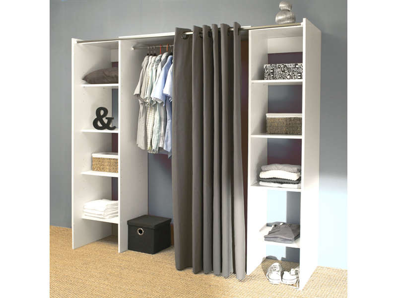 dressing extensible 2 colonnes diego vente de dressing conforama. Black Bedroom Furniture Sets. Home Design Ideas