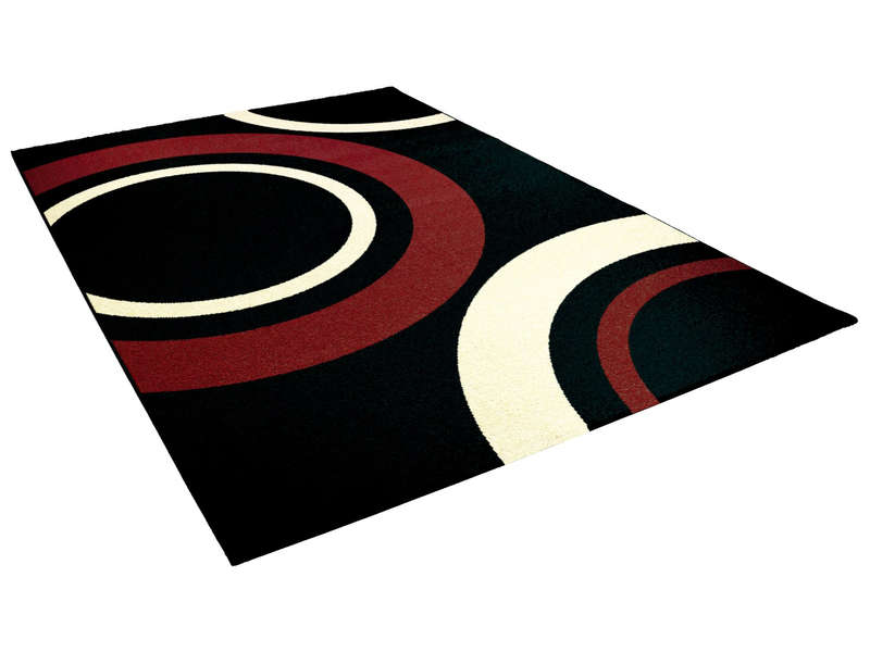 tapis 160x230 cm nevada coloris noir vente de tapis moyenne et grande taille conforama. Black Bedroom Furniture Sets. Home Design Ideas