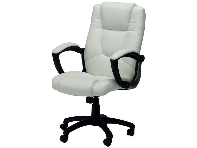 fauteuil de bureau sam coloris blanc vente de fauteuil. Black Bedroom Furniture Sets. Home Design Ideas