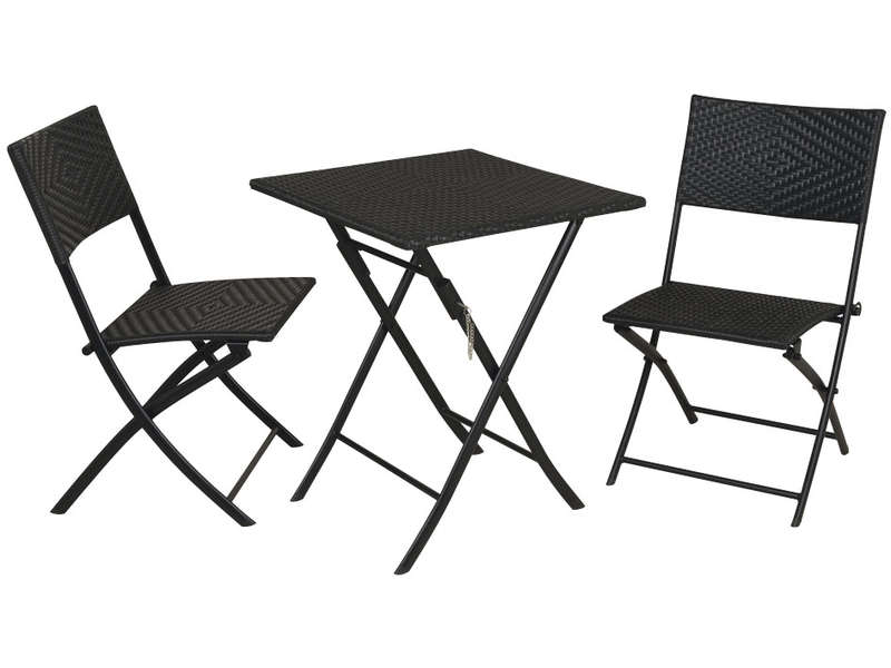 Ensemble table 2 chaises saigon vente de ensemble for Table de jardin conforama