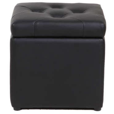 Pouf coffre 37X45 cm BOTAI coloris noir