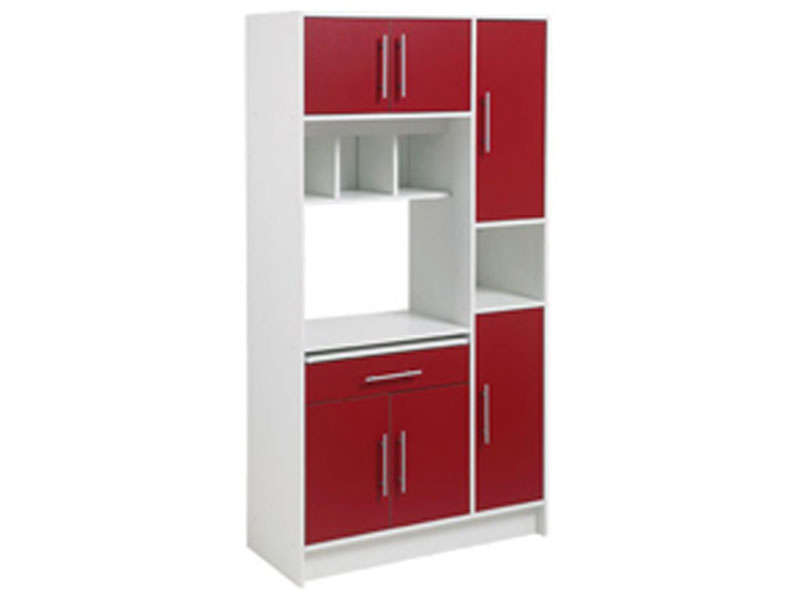 buffet desserte micro ondes nanny coloris blanc rouge. Black Bedroom Furniture Sets. Home Design Ideas