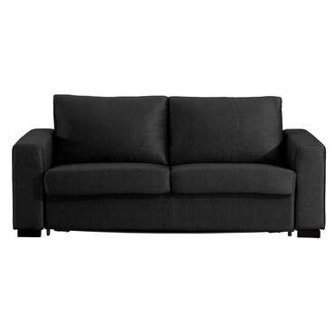 Canapé convertible 3 places en tissu SPEED coloris noir