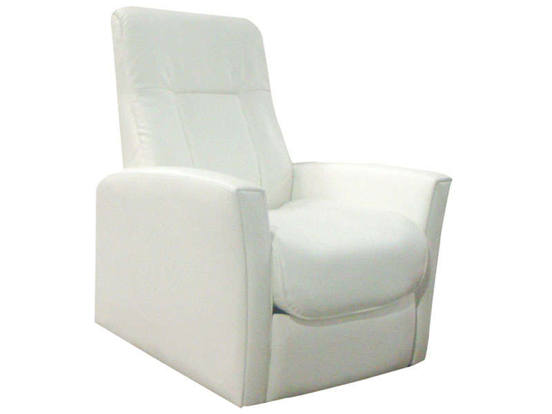 fauteuil relaxation zeni coloris blanc en pu vente de tous les fauteuils conforama. Black Bedroom Furniture Sets. Home Design Ideas