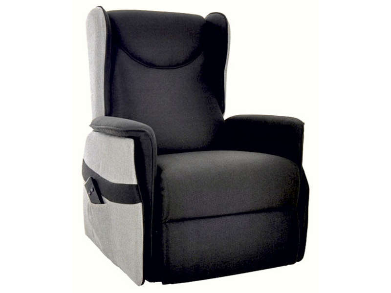 fauteuil relaxation lectrique en tissu smooth coloris. Black Bedroom Furniture Sets. Home Design Ideas