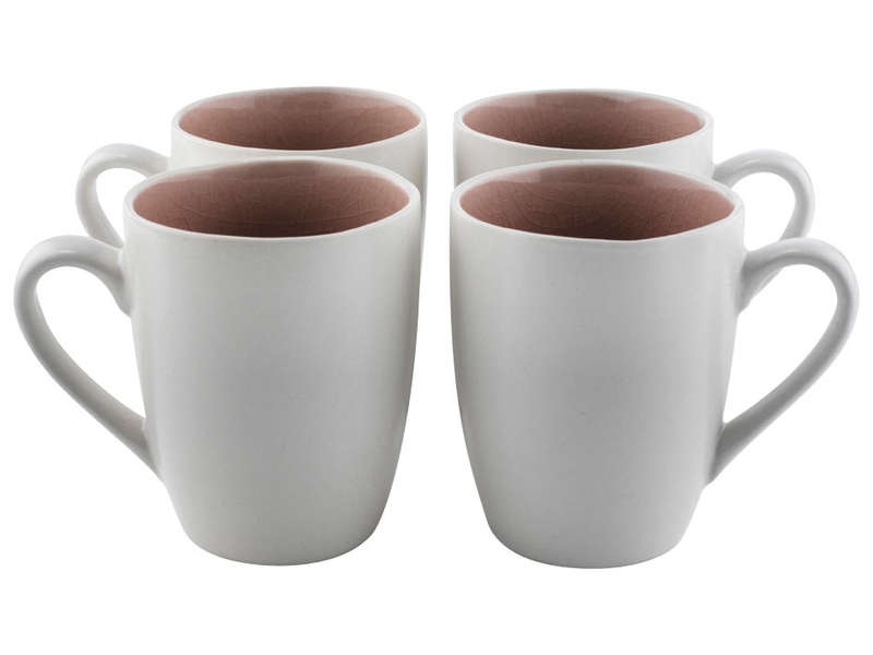 Mug 42 cl sweet coloris rose et blanc for Mug isotherme micro ondable