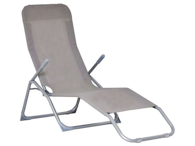 Chaise longue salon conforama for Transat aluminium pas cher
