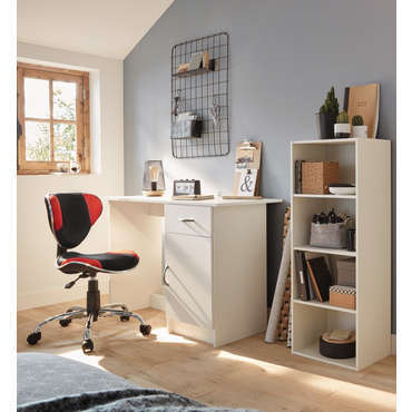 Biblioth que 4 cases cubico 4 coloris blanc vente de for Bureau 70 cm de large