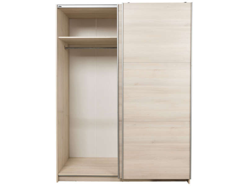 armoire 2 portes coulissantes cm fast coloris acacia. Black Bedroom Furniture Sets. Home Design Ideas