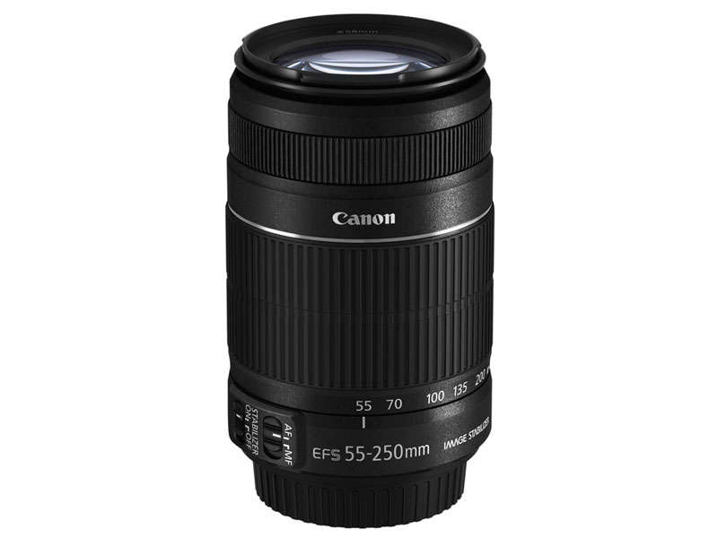 objectif canon ef s 55 250 mm f 4 5 6 is stm vente de canon conforama. Black Bedroom Furniture Sets. Home Design Ideas