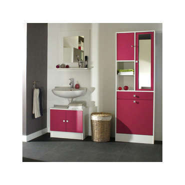 meuble sous lavabo miroir ling re wave coloris fushia vente de meuble et rangement conforama. Black Bedroom Furniture Sets. Home Design Ideas