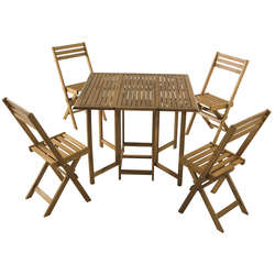 Ensemble table + 4 chaises pliantes