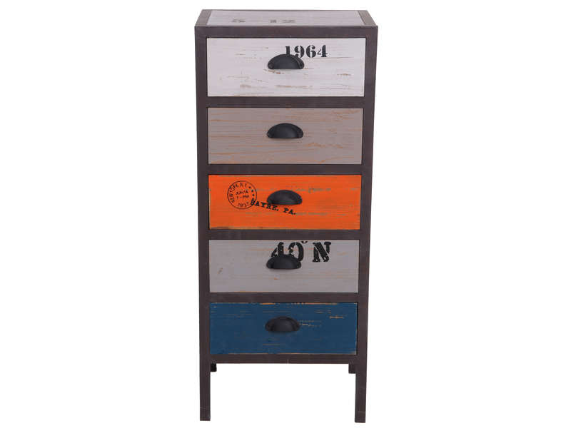 chiffonnier 5 tiroirs metalo vente de chiffonnier conforama. Black Bedroom Furniture Sets. Home Design Ideas
