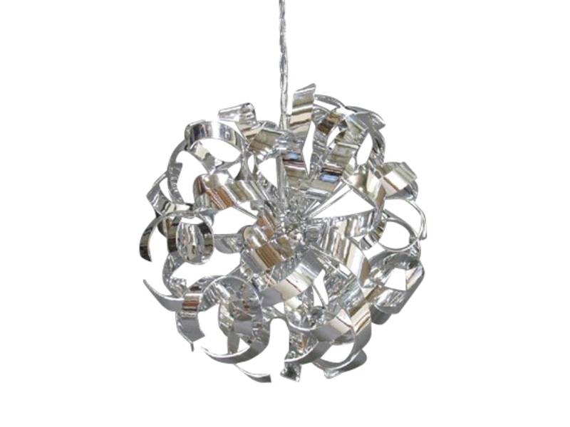 Lustre 4 lampes frise coloris chrome vente de lustre et suspension conforama - Lustre suspension new york ...