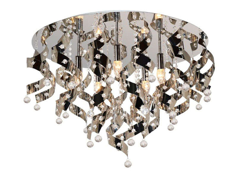 Lustre 5 lampes louis chrome vente de lustre et suspension conforama
