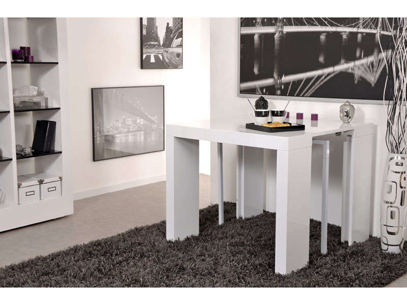 console extensible cm max olga coloris blanc. Black Bedroom Furniture Sets. Home Design Ideas