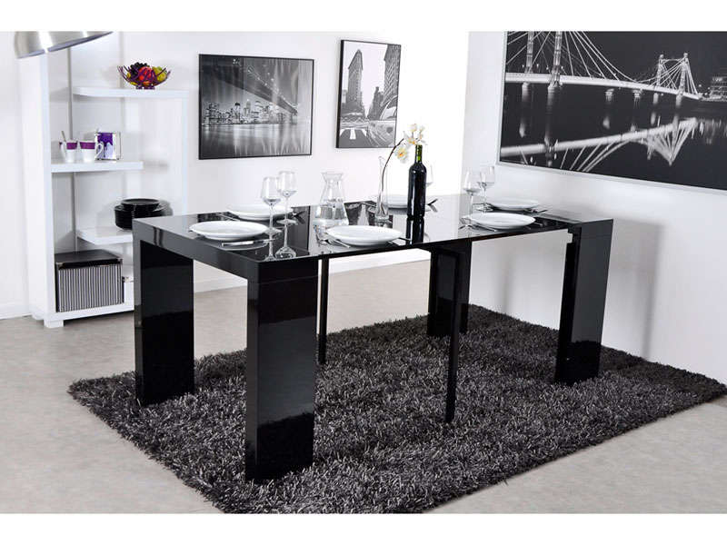 conforama console extensible olga table de lit. Black Bedroom Furniture Sets. Home Design Ideas