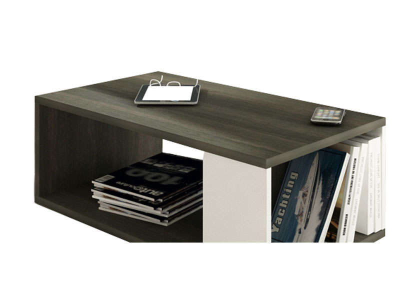 table basse rectangulaire tokk coloris anthracite et blanc vente de table basse conforama. Black Bedroom Furniture Sets. Home Design Ideas