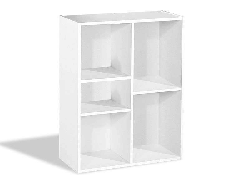 Biblioth que modulable 5 cases modulo 5 coloris blanc vente de biblioth que - Bibliotheque modulable pas cher ...