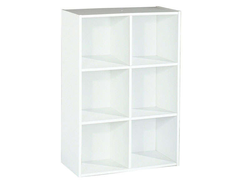 Biblioth que modulable 6 cases modulo 6 coloris blanc for Meuble 6 cases blanc