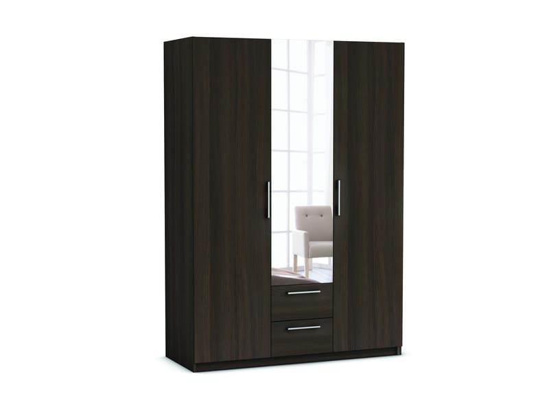 armoire 3 portes 2 tiroirs saturne coloris ch ne vulcano vente de armoire conforama. Black Bedroom Furniture Sets. Home Design Ideas