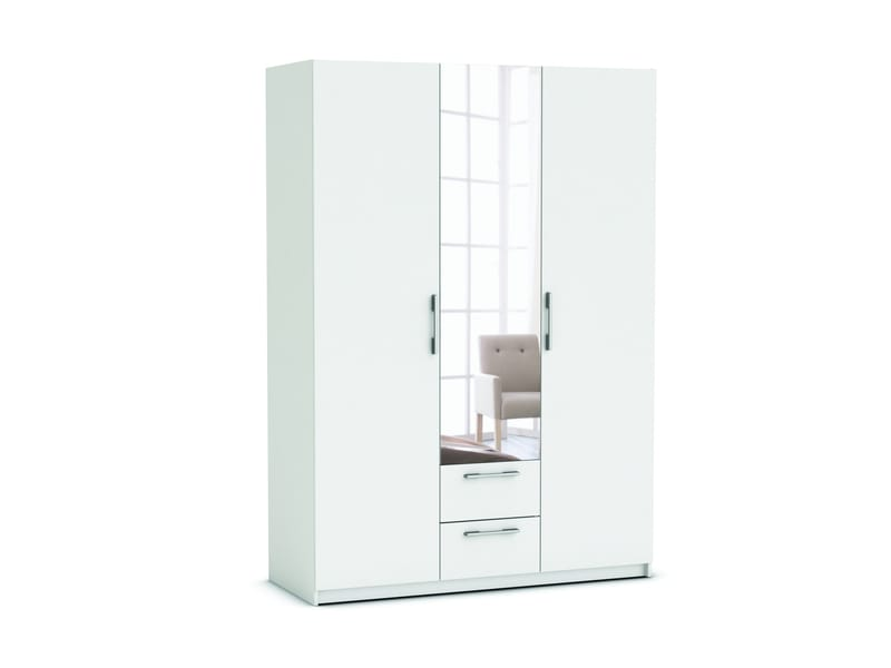 armoire 3 portes 2 tiroirs saturne coloris blanc vente. Black Bedroom Furniture Sets. Home Design Ideas