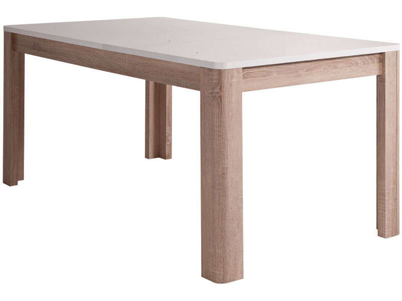 Table rectangulaire avec allonge 206 5 cm max levi coloris for Table largeur 70 cm avec rallonge