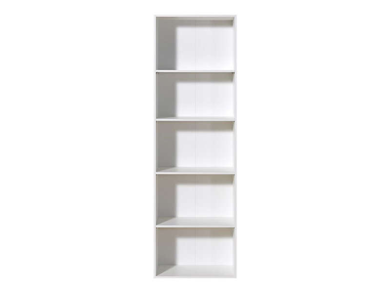 biblioth que 4 tag res trio coloris blanc promodispo. Black Bedroom Furniture Sets. Home Design Ideas