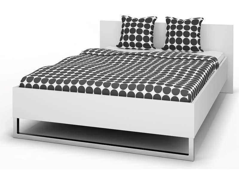 lit 140x200 cm style coloris blanc mat vente de lit adulte conforama. Black Bedroom Furniture Sets. Home Design Ideas