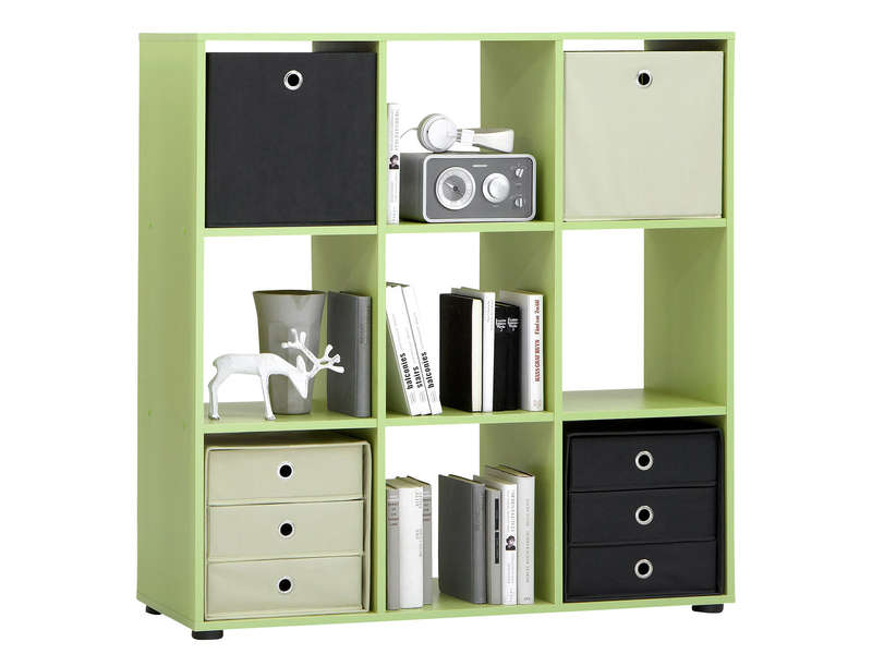 39 sur biblioth que 9 cases mega coloris vert vendu par. Black Bedroom Furniture Sets. Home Design Ideas