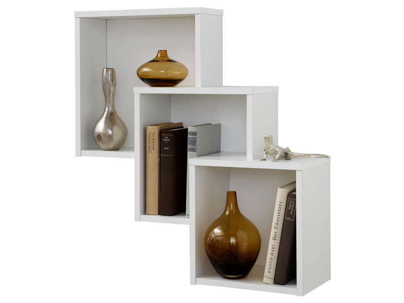 Etagere murale 3 cases my blog for Table rabattable murale conforama