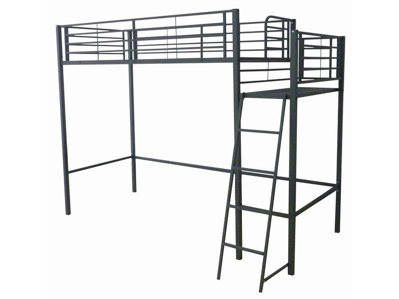 mezzanine 90x190 cm gate coloris noir mat vente de lit. Black Bedroom Furniture Sets. Home Design Ideas