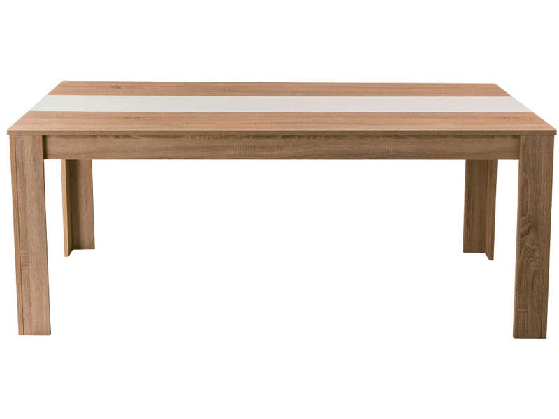 Table rectangulaire 160 cm nico coloris ch ne clair for Table rectangulaire de cuisine