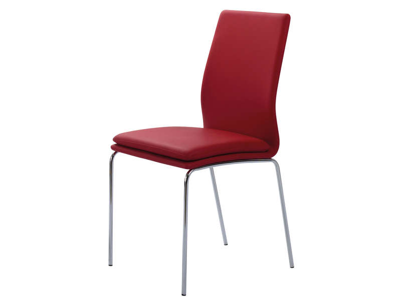 Chaise greg coloris rouge vente de chaise conforama for Conforama chaise