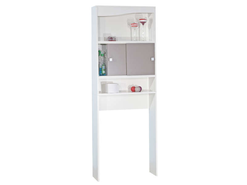 Armoire toilettes machine laver eos coloris blanc for Meuble pour machine a laver