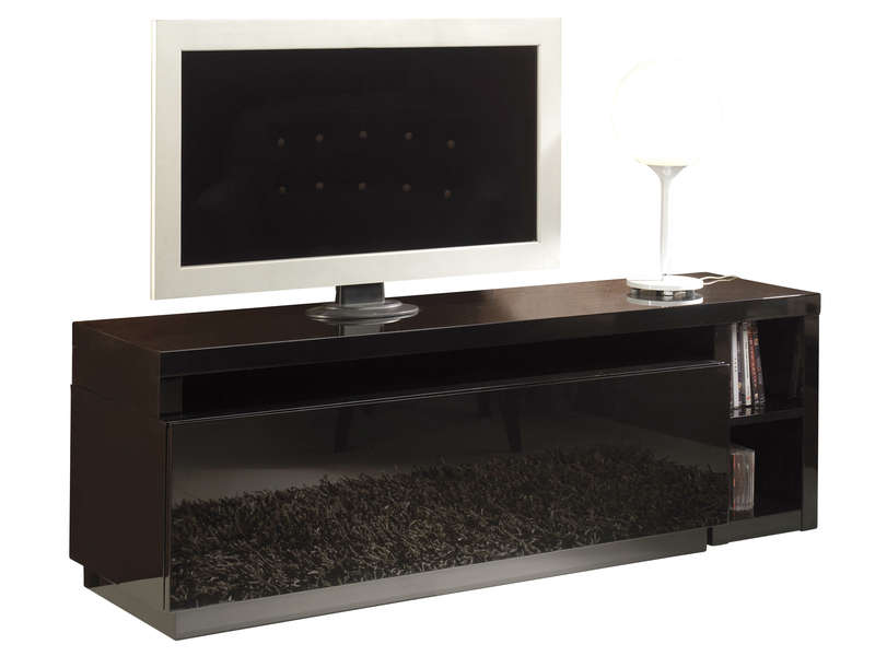 meuble tv modulable nani coloris noir chez conforama. Black Bedroom Furniture Sets. Home Design Ideas