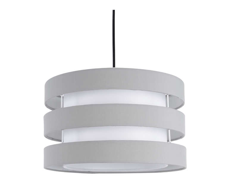 Suspension grand mod le ferret coloris gris et blanc vente de luminaire enfant conforama for Luminaire multi suspension colore enfant