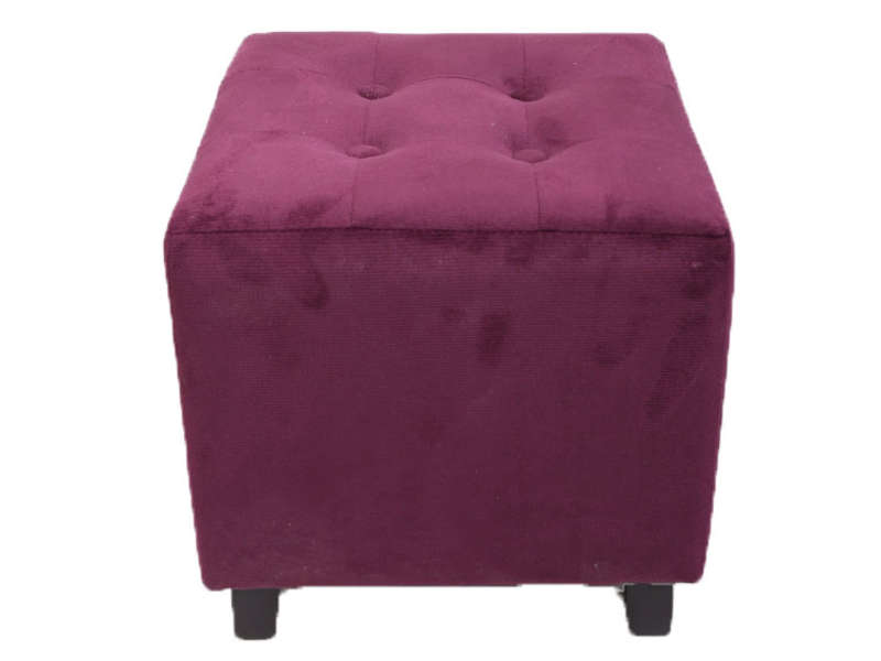pouf louis coloris aubergine vente de pouf conforama. Black Bedroom Furniture Sets. Home Design Ideas