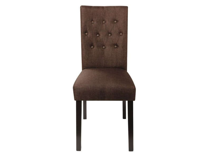 Chaise arthus coloris marron chez conforama for Chaise de salle a manger conforama