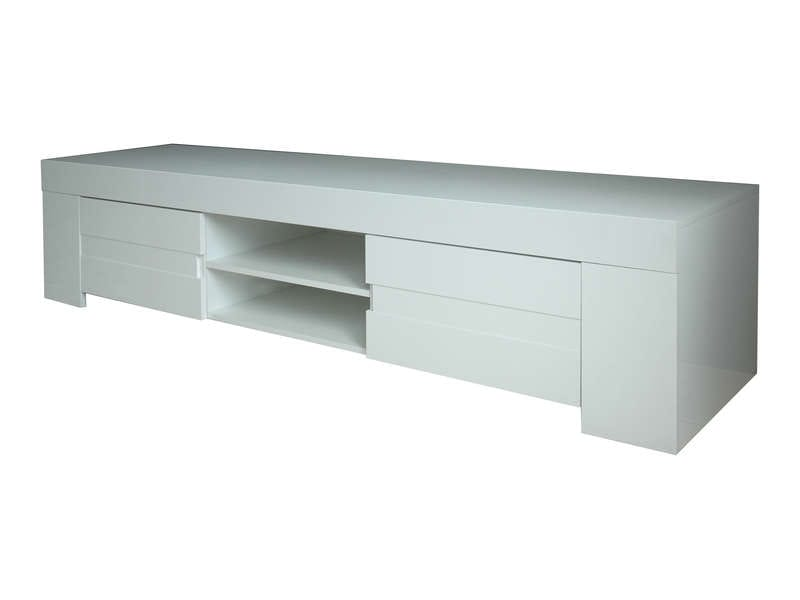 Meuble TV 190 cm finition laqué EOS coloris blanc