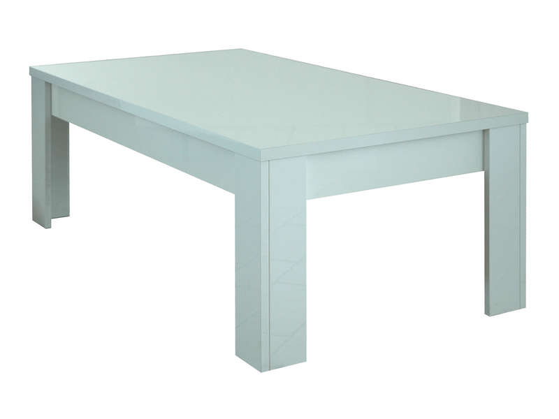 Table basse rectangulaire EOS coloris blanc