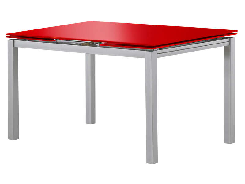 Table rectangulaire avec allonge 200 cm max tokyo 3 for Table de cuisine rouge laque