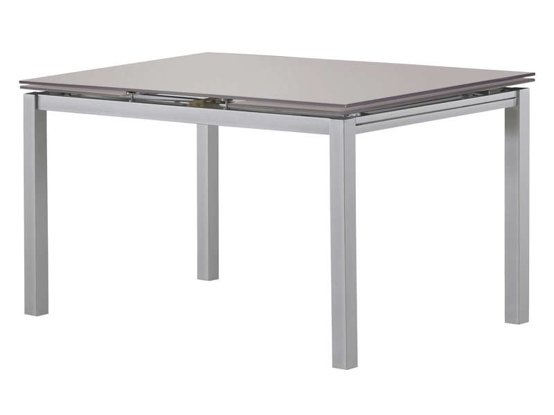 Table rectangulaire avec allonge 200 cm max tokyo 3 coloris moka vente de table de cuisine - Table rectangulaire avec allonge ...