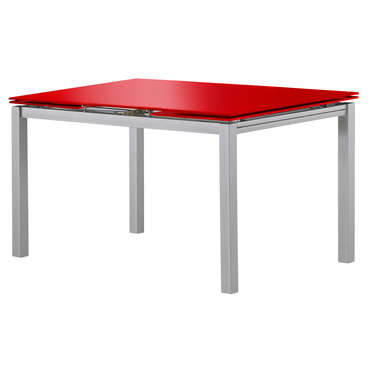 Table rectangulaire avec allonge 200 cm max tokyo 3 coloris rouge vente de table de cuisine - Table rectangulaire avec allonge ...