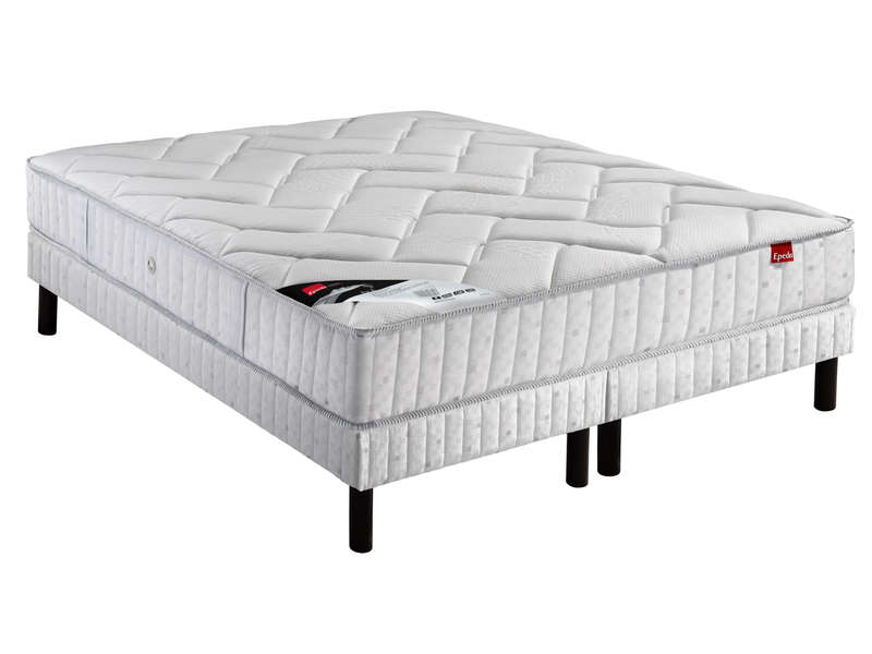 matelas 160x200 cm sommier 2x80x200 cm epeda isla vente de ensemble matelas et sommier. Black Bedroom Furniture Sets. Home Design Ideas