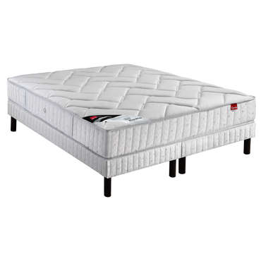 matelas 180x200 cm sommier 2x90x200 cm epeda isla. Black Bedroom Furniture Sets. Home Design Ideas