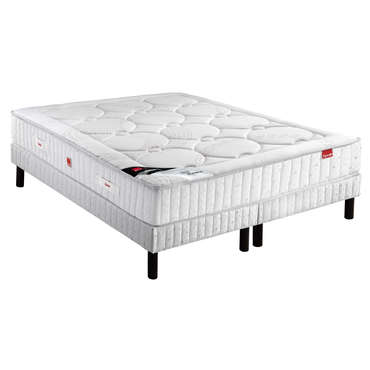matelas 160x200 cm sommier 2x80x200 cm epeda isalys vente de ensemble matelas et sommier. Black Bedroom Furniture Sets. Home Design Ideas