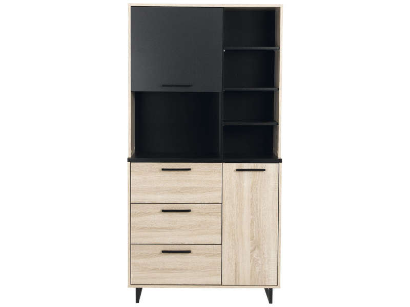 buffet 2 portes 3 tiroirs indus vente de buffet de cuisine conforama. Black Bedroom Furniture Sets. Home Design Ideas